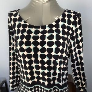 NWT Cleo LP colourful top.